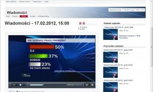 Wyniki sondażu CBOS prezentowane w TVP1